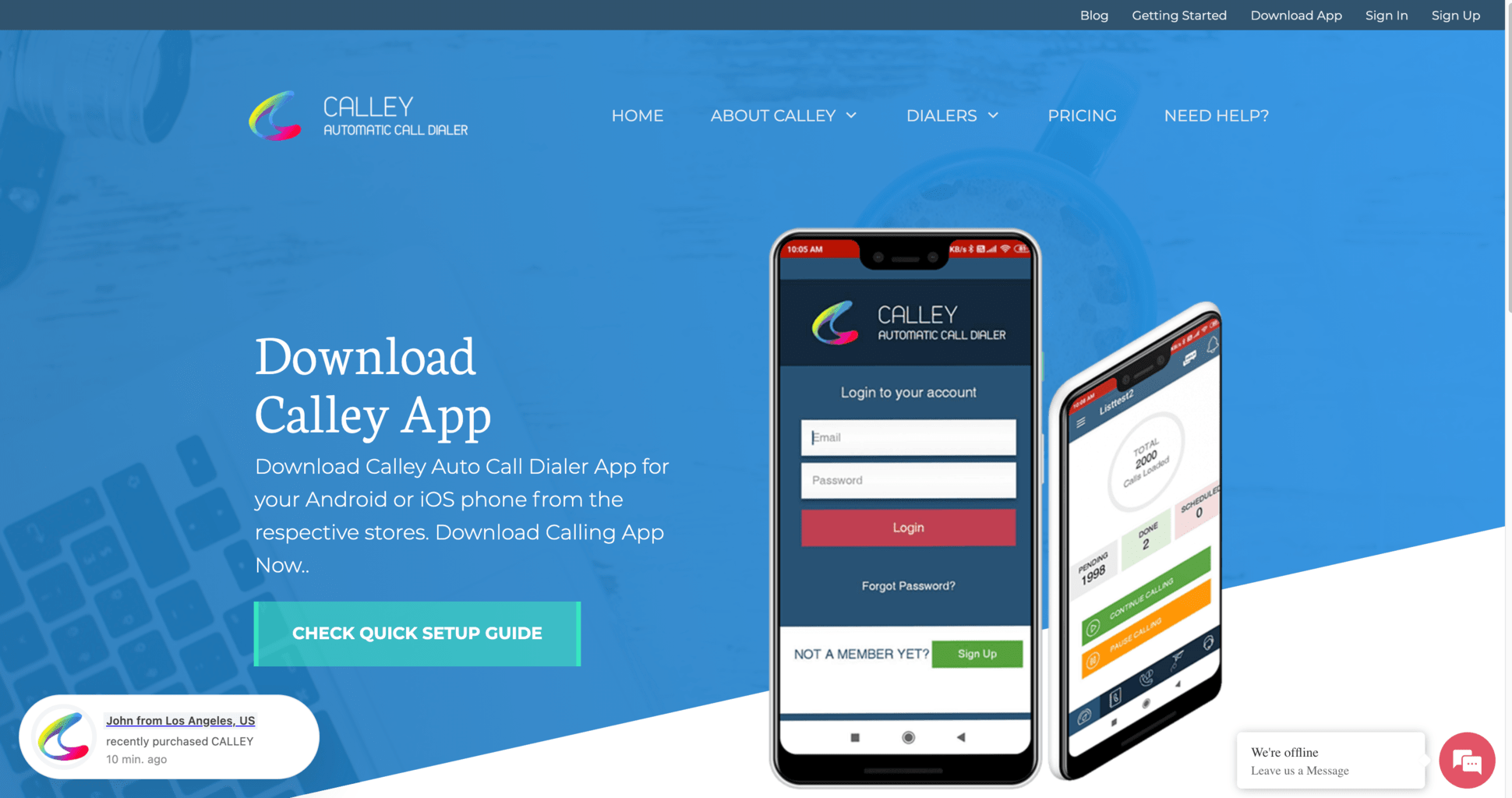 Download Calley Autodialer App